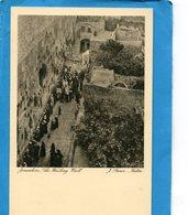 PALESTINE-+JERUSALEM-The Wailing Wall- Mur Des Lamentations- Croyants En Prière A -J Benor Halter édition  Adler - Palestine