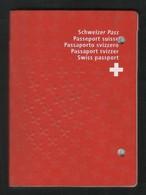 Switzerland HELVETIA Swiss 40 Page Passport With Bahrain UAE Pakistan Visas Postmark On Passport Page - Documents Historiques