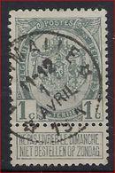 Nr.  81 Met DEPOTS - RELAIS / STERRENSTEMPEL WESTMALLE ; Staat Zie Scan  ! Inzet Aan 3 Euro ! - 1893-1907 Armoiries