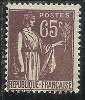 FRANCE FRANCIA 1932 1939 PAZ PEACE PACE CENT. 65c MNH - 1932-39 Vrede