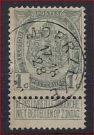 Nr.  81 Met ZELDZAME STEMPEL MOERZEKE ; Staat Zie Scan  ! Inzet Aan 3 Euro ! - 1893-1907 Armoiries