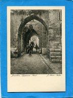 PALESTINE-JERUSALEM- Fyropeaum Street-animée-années 20-J Benor Halter édition  Adler - Palestina