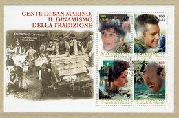 HB SAN MARINO 2000 POSTMARK PREMIER JOUR - GENTE DI SAN MARINO, IL DINAMISMO DELLA TRADIZIONE - Historia