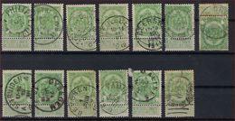 Nr. 83 (13 X) Met Verschillende ZELDZAME Stempels Zoals MEULEBEKE , BEERSSE En GYSEGEM ; Staat Zie Scan ! - 1893-1907 Armoiries