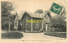45 Tigy, Chateau Du Gué Robert, Intérieur, Femme Dans L'allée, Cliché Pas Courant - France