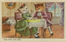 Chats Humanisés, Adieu Notre Petite Table - Chats