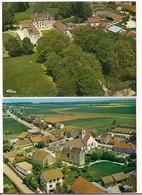 Belleneuve: 2 Vues Aériennes: Village Et Château - Cartes Neuves Cim - - France