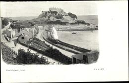 Cp Jersey Kanalinseln, Mont Orgueil Castle - England