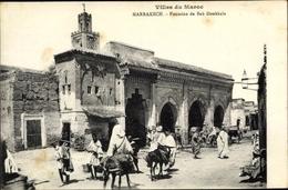 Cp Marrakesch Marokko, Fontaine De Bab Doukkala, Esel - Maroc