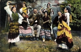 Cp Granada Andalusien Spanien, Danza De Gitanos - Espagne