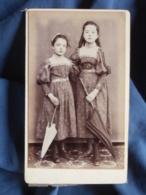 Photo CDV J. Bralant à Anserville - Femme Avec Ombrelles Vers 1880-85 L403A - Photos