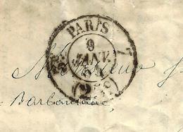LAC PARIS Pour Mr Ferré Propriétaire à La Barbantane Près Lançon Bouches Du Rhone COMMANDE HUILES VOIR SCANS - 1849-1876: Klassik
