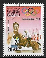 GUINEE  BISSAU     -      HIPPISME  /  JUMPING   -    Oblitéré - Jumping