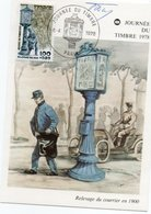 Journee Du Timbre  1978  Relevage Du Courrier  En 1900 - Poste & Facteurs