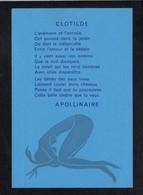 """Philosophie / Pensée / Poésie  / """" Clotilde ... """" De Apollinaire / Linogravure De Didier-Michel Bidard ( 100 Exp.) - Philosophie"""