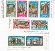 Jordan 1965 Jerash IMPERFORATED 8 Stamps Compl. Set MNH- Scarce Set- RED.PRICE-SKRILL PAY ONLY - Jordan