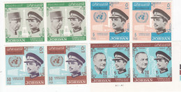 Jordan 1965 King Visit 4 V.compl.set IMPERFORATED MNH- Red.Proice- SKRILL PAYMENT ONLY - Jordan