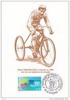 L4L195 Cachet Com. 77è Tour De France 1990  13è étape Villars De Lans 14 07 1990 / CP Illustrée Henri Desgrange - Cyclisme