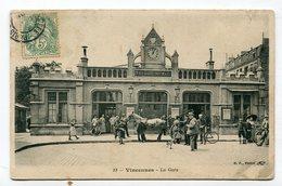 CPA 94 : VINCENNES La Gare Avec Attelage De Chevaux    VOIR  DESCRIPTIF §§§ - Vincennes