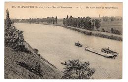 37 INDRE ET LOIRE - SAINT AVERTIN Le Cher à L'Ecorchevau, Transport De Sable (voir Descriptif) - Saint-Avertin