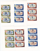 Jordan 1966 Anti TB +overprinted Marginal Strip Of 3 Sets IMPERF. Scarce- 6v.MNH- Red.Price- SKRILL PAY ONLY - Jordan