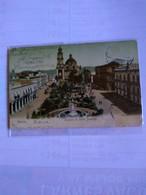 México Plazuela De Santo Domingo Color Card Postally Used 1906 - Mexico