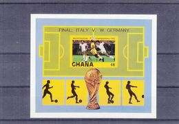 Football - Coupe Du Monde 1982 - Ghana - Yvert BF 97 ** - NON Dentelé - Surcharge Winner Italy - World Cup