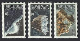 LIECHTENSTEIN 1989 MINERALS ROCKS GEMS SET MNH - Liechtenstein