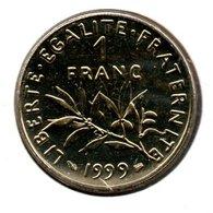 Semeuse  - 1 Franc 1999 -  état  FDC  - Scellée - H. 1 Franc