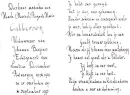 Devotie - Doodsprentje Overlijden - Marc Callerson - Antwerpen 1910 - 1995 - Obituary Notices