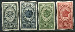 Russia  1944  Mi 905-908 MNH - 1923-1991 USSR