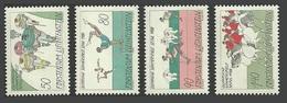 LIECHTENSTEIN 1988 SPORT OLYMPICS HORSES CYCLING GYMNASTICS SET MNH - Liechtenstein