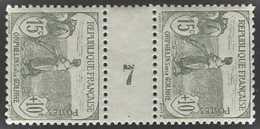 France Millésimes  N° 150 15c + 10c Orphelins Gris-vert Paire Millésime 7 Qualité: ** Cote: 375 € - Millésimes