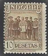 Andorre Espagnol Postes Espagnol Postes  N° 26 A 10p Brun-jaune Conseil Des Syndics Des Vallées Avec Chiffres De Contrôl - Autres