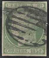 Espagne Postes  N° 15 5r Vert Isabel II TB  Qualité: Obl Cote: 160 € - Andorre Espagnol