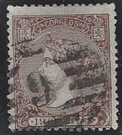 Espagne Postes  N° 82 19c Brun Isabel II Dentelé 14 Qualité: Obl Cote: 475 € - 1850-68 Kingdom: Isabella II