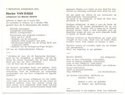 Devotie - Doodsprentje Overlijden - Oudstrijder Hector Van Daele - Egem 1914 - Ardooie 1984 - Obituary Notices