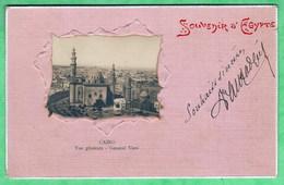 SOUVENIR D'EGYPTE - CAIRO - VUE GENERALE - CARTE GAUFREE - 2 SCANS - Cairo