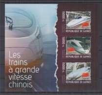 B92. Guinee - MNH - 2014 - Transport - Trains - Modern Trains - China - Trains