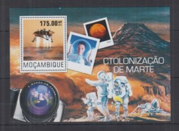 P92. Mozambique - MNH - 2014 - Space - Spaceships - Astronauts - Mars - Bl - Space