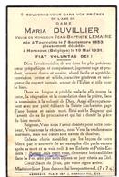 Devotie - Devotion - Doodsprentje Image Mortuaire - Maria Duvillier - Tourcoing 1853 - Herseaux 1931 - Obituary Notices