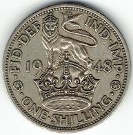 United Kingdom, 1 Shilling 1948 (English) - 1902-1971 :  Post-Victoriaanse Muntstukken