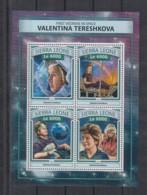 T92. Sierra Leone MNH - 2016 - Space - Spaceships - Valentina Tershkova - Space