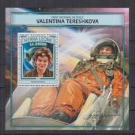 T92. Sierra Leone MNH - 2016 - Space - Spaceships - Valentina Tershkova - Bl - Space