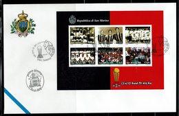 FDC SAN MARINO 1999 CENTO ANNI DI MILAN - CENT ANS DE MILAN - Equipos Famosos