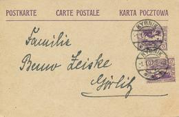 RYBNIK / Oberschlesien - 1921 , Postkarte Nach Görlitz - Deutschland