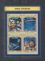 T92. Sierra Leone MNH - 2016 - Space - Space Tourism - Space