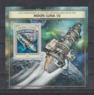 T92. Sierra Leone MNH - 2016 - Space - Spaceships - Moon - Bl - Space