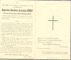 Devotie - Devotion - Doodsprentje Image Mortuaire - Augustine Sérout - Comines 1867 - Ypres Ieper 1956 - Overlijden