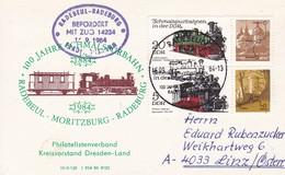 DDR 1984 100 Jhare Schmalspurbahn Radebeul - Moritzburg - Radeburg 16-09-1984 - Trains